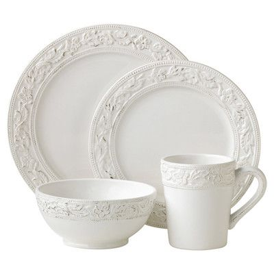 The Pfaltzgraff everyday country cupboard dinnerware set features an antiqued white base complemented by embossed rim and border accents.  sc 1 st  Pinterest & 40 best everyday dishes images on Pinterest | Dish sets Dinnerware ...