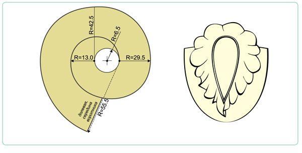 "Воротник «спираль»./Collar ""spiral""."