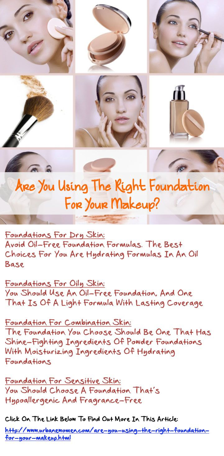 Are you using the right foundation for your makeup for Types of foundation and their uses