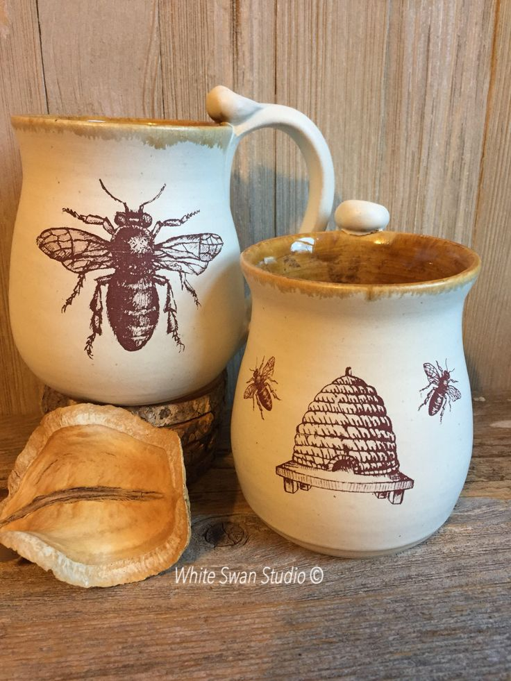A personal favorite from my Etsy shop https://www.etsy.com/listing/559919944/big-bee-or-bee-skep-mug-mug-larhe-honey