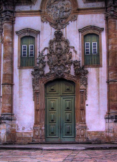 Door of the Saint Francis of Assisi church, Brazil