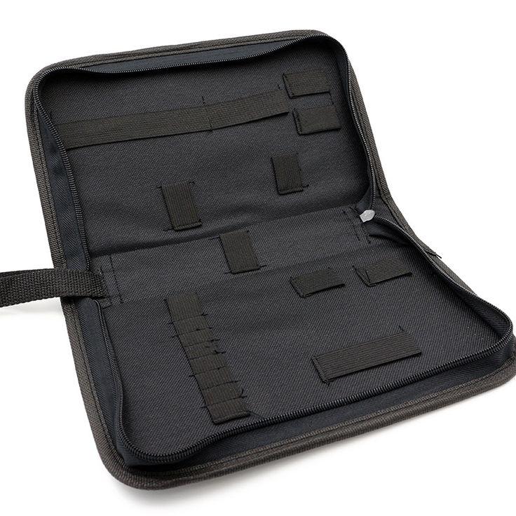 18 Elastic Ribbon Tool Bag Bolsa de almacenamiento de herramientas de reparación de reloj de Nylon ZIP portátil para Relojero