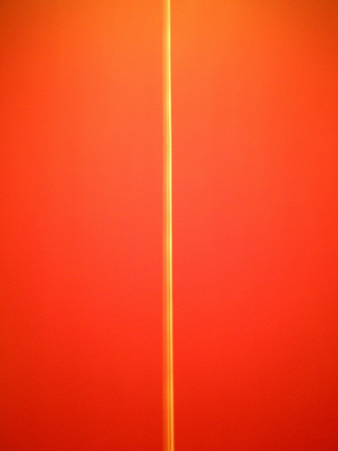 Barnett Newman 1970 'Be I' (second version) , Institute of Arts, Detroit, Michigan