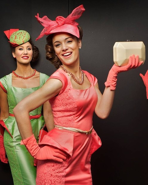 Melbourne Cup 2012 Fashions on the Field ... Chantelle Raleigh and Caitlin Mikheal in Vezzano Couture. #hats #racing