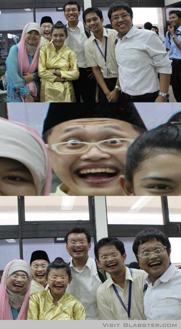 Happy asians face swap