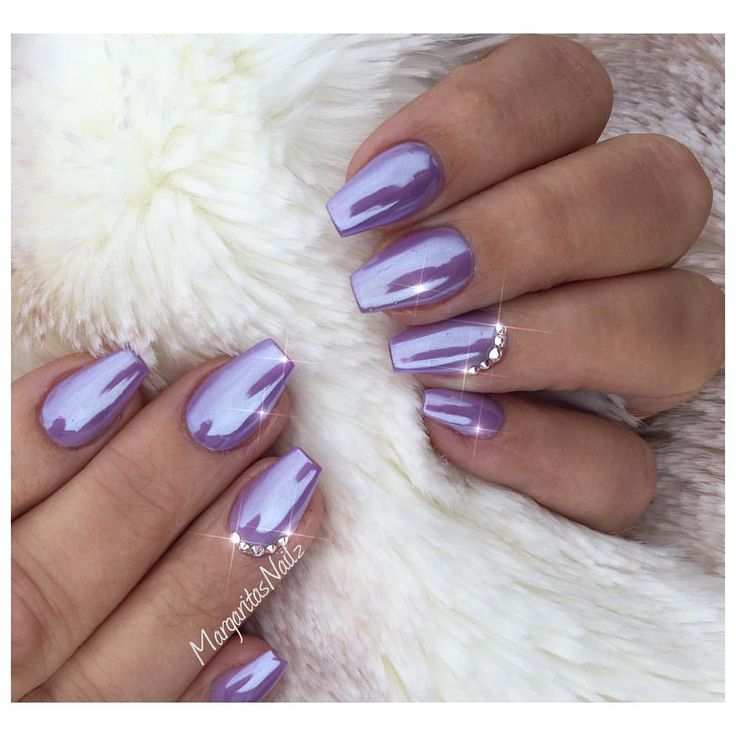 Purple Chrome.Nails