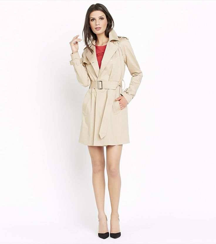 Trench Coat With Zips FEATHER GREY