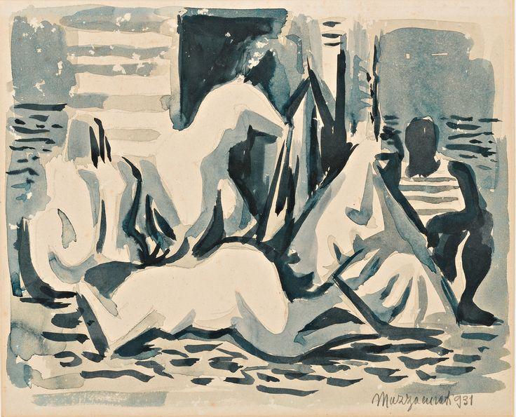 """1931.07.02 Renato Marino Mazzacurati, """"Studio per composizione"""" #mazzacurati #renatomarinomazzacurati"""