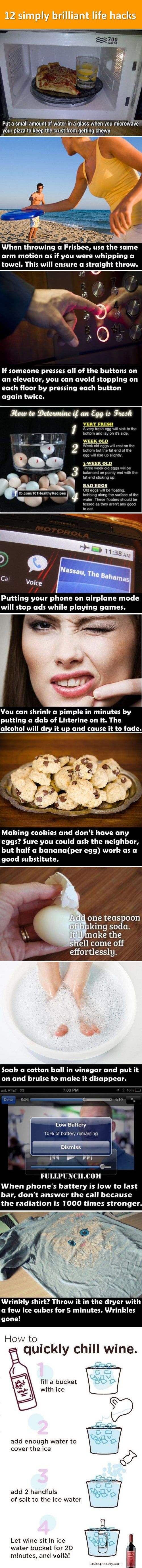 12 simply brilliant life hacks. - Shall have research that mobile phone one. Scary/suspect stuff...