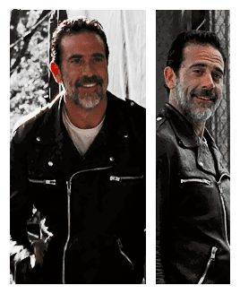 I'm so conflicted, because Negan killed Glenn, kidnapped Daryl, temporarily broke Rick, forced Carl to reveal his eye that he is obviously uncomfortable with, and is just generally a horrible person. However, he says really funny, unexpected things and is an interesting character.