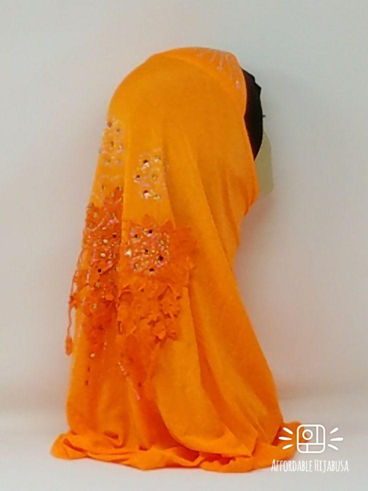 Amour Al Amira Hijab $24.99 Amour Al Amira Hijab with beautiful Lace Applique And Rhinestone Miami Orange 1pchttps://store13211292.ecwid.com/#!/Amour-Al-Amira-Hijab/p/101697845