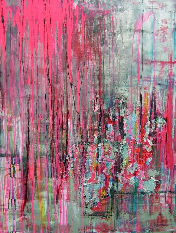 "Pauline Remy // Mixed Media ""STREET PULSION"" abstract art"