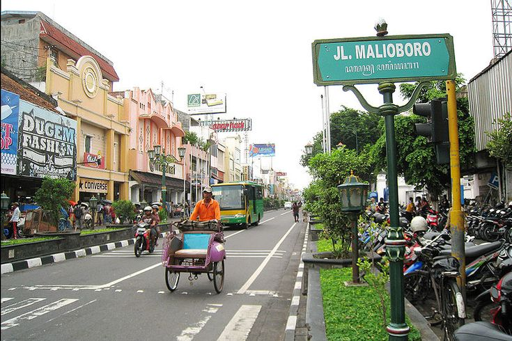 The famous street Malioboro Street | Jogjakarta #Indonesia