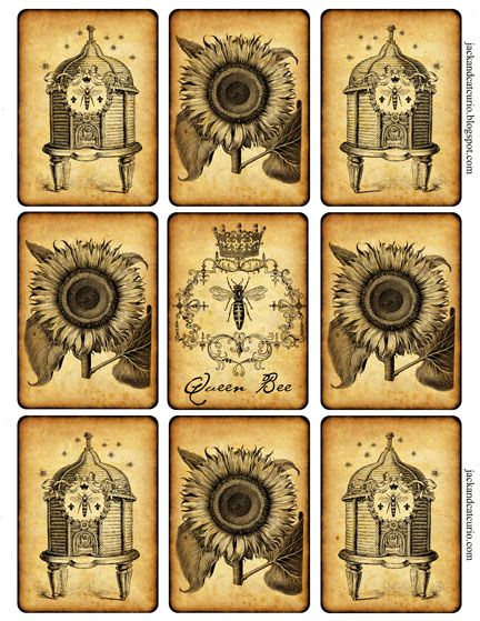 Bees & Sunflowers ATC Cards / Tags
