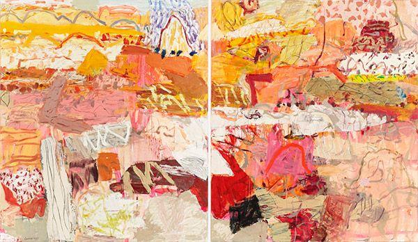 "Elisabeth Cummings, Edge of the Simpson Desert, 2011, oil on canvas, 71 x 118"""