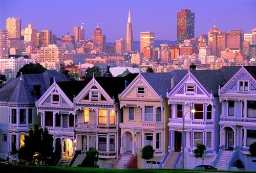 Love the hues on these great San Fransisco houses.