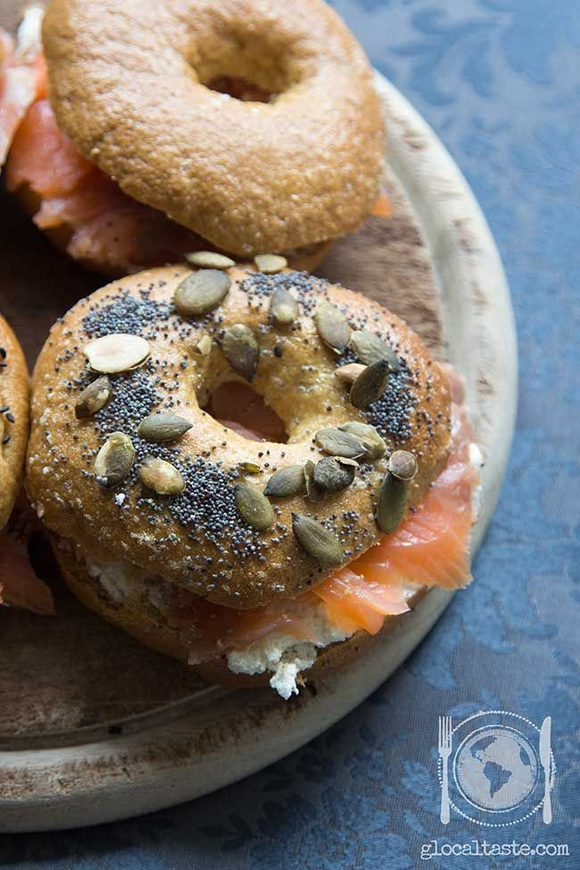 Homemade #bagel with mother yeast  kamut flour - Bagel con lievito madre e farina di kamut - Le Ricette di GlocalTaste.com
