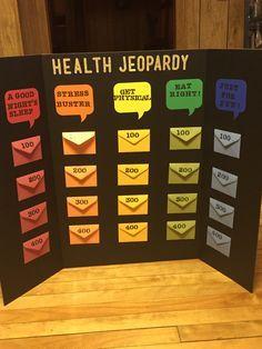 Health Jeopardy Board Game Nutritional Ideas