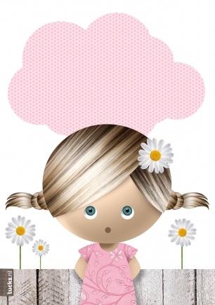 Lieve uitnodiging voor een kinderfeestje van een meisje (© Luckz)