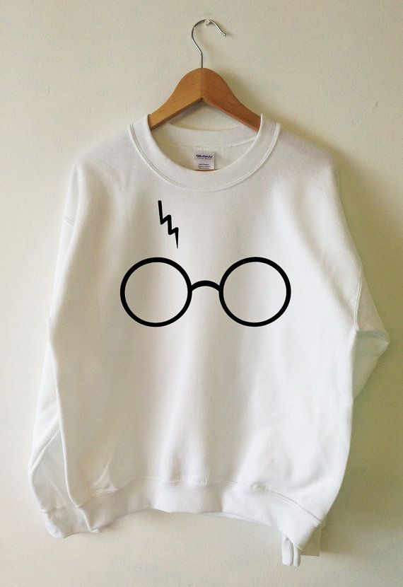 Harry Potter Sweatshirt foudre lunettes pull col par Tmeprinting