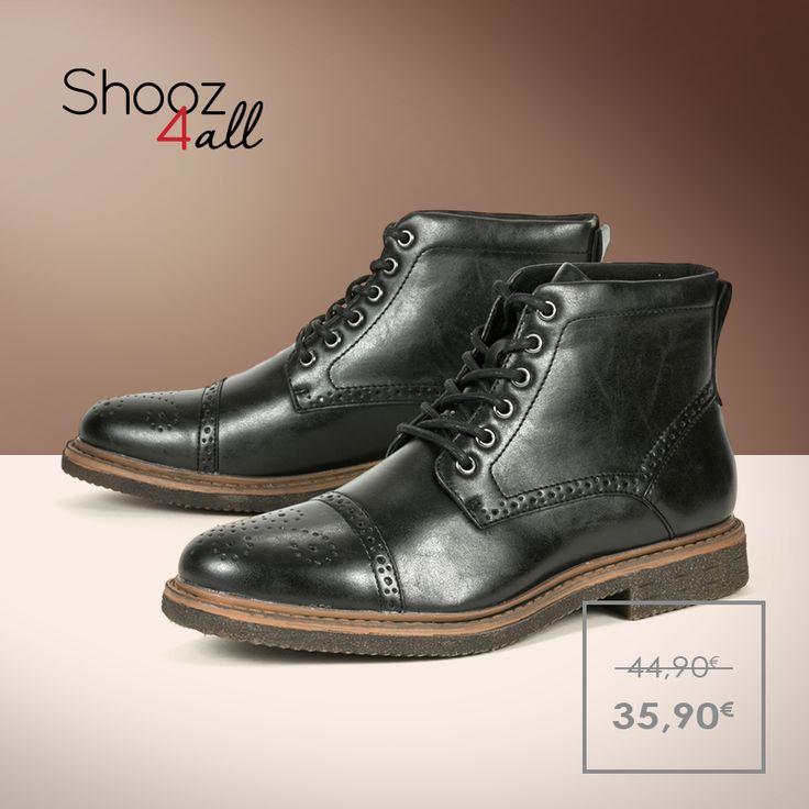 Μαύρα μποτάκια με μπεζ κρεπ σόλα. Κατασκευασμένα από άριστης ποιότητας συνθετικό δέρμα, με εύκαμπτη και αντιολισθητική σόλα, ανδρικά παπούτσια που θα σας συνοδεύσουν με άνεση και ξεχωριστό στυλ σε κάθε σας εμφάνιση. http://www.shooz4all.com/el/andrika-papoutsia/andrika-mpotakia-me-krep-sola-b85-7f9-29g-detail #shooz4all #andrika #mpotakia