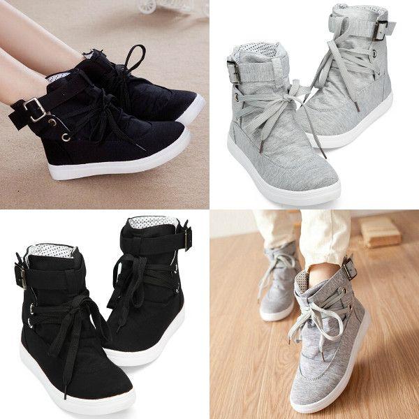 renda fixa-se altos sapatos de lona top formadores casuais ankle boots