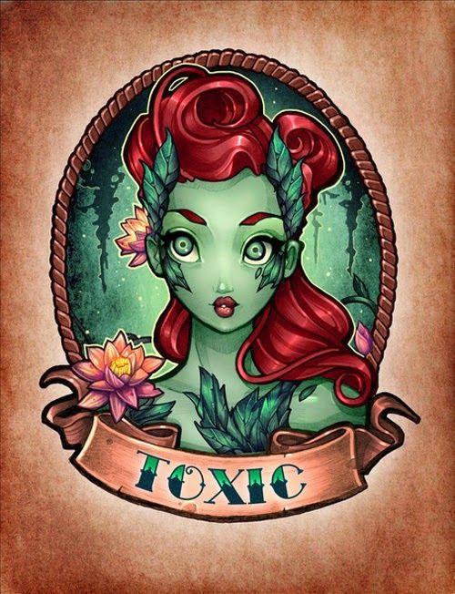 Galaxy Fantasy: Tatuajes pin-up de personajes femeninos de comics