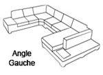 Canapé d'angle design Angle gauche
