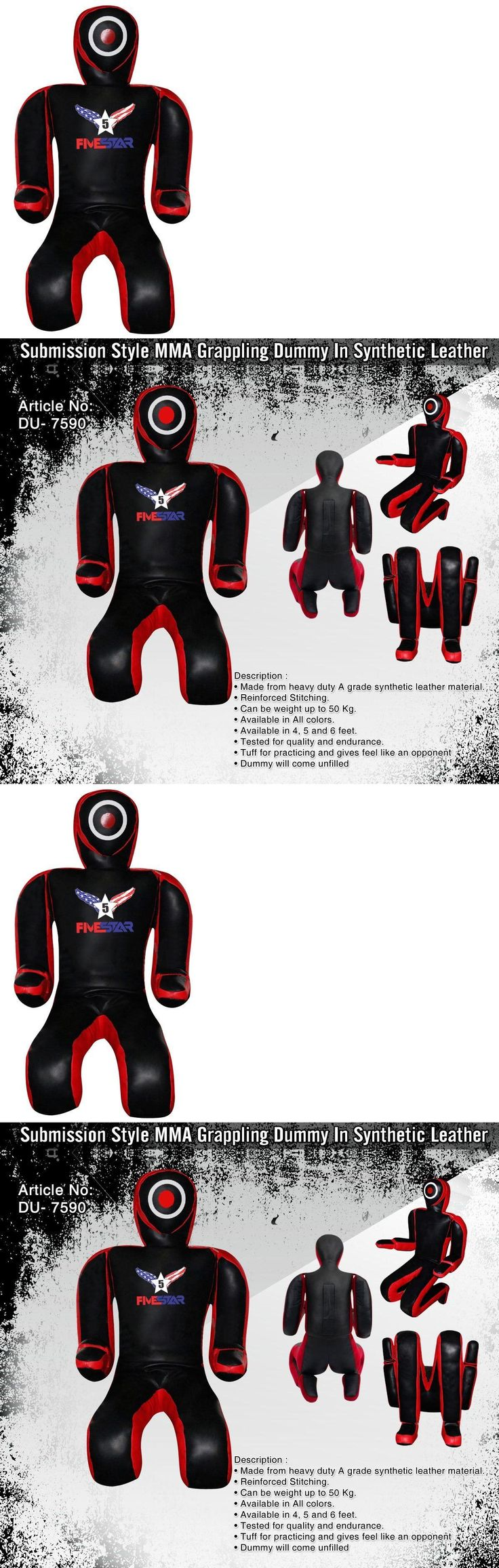 Dummies 179786: Grappling Dummy For Submission, Bjj, Mma | Synthetic Leather BUY IT NOW ONLY: $89.99