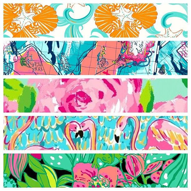 : Pretty Patterns, Lilly Pulitzer, Pearls, Summer Prints, Canvas, Southern Charm, Flamingos, Cheesecake Brownies, Colors Life