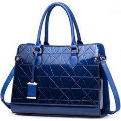 NUCELLE Prawdziwie kobieca torebka Niebieska