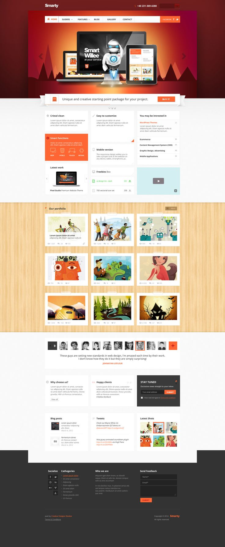 Smarty - Business Portfolio for Creative Agencies by *DaJyDesigns  #webdesign