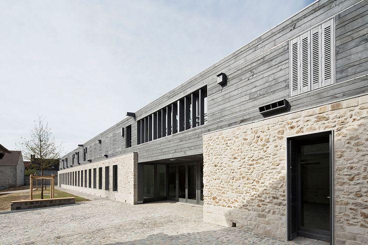 Joly et loiret architectes maison du parc naturel for Maison contemporaine loiret