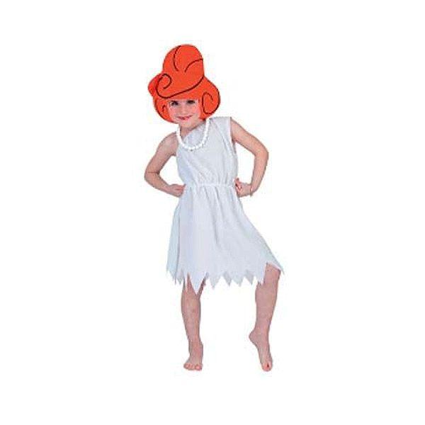 Wilma kostuum voor meiden. Wilma Flintstone jurkje voor kinderen. Dit leuke Wilma Flintstone kostuum bestaat uit het herkenbare witte jurkje en een hoed in de vorm van Wilma haar kapsel. Carnavalskleding 2015 #carnaval