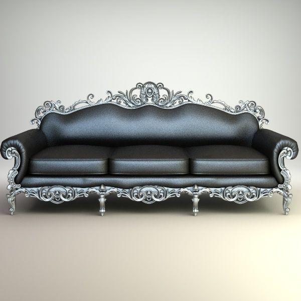 Ornate Baroque Sofa Interiors 3D Models