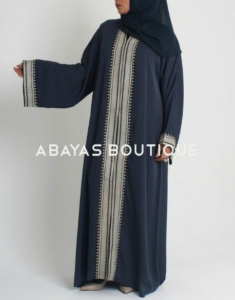 Mid Summer Nights Green Open Abaya