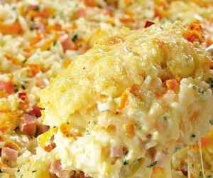 Receita de arroz de forno com queijo - Show de Receitas