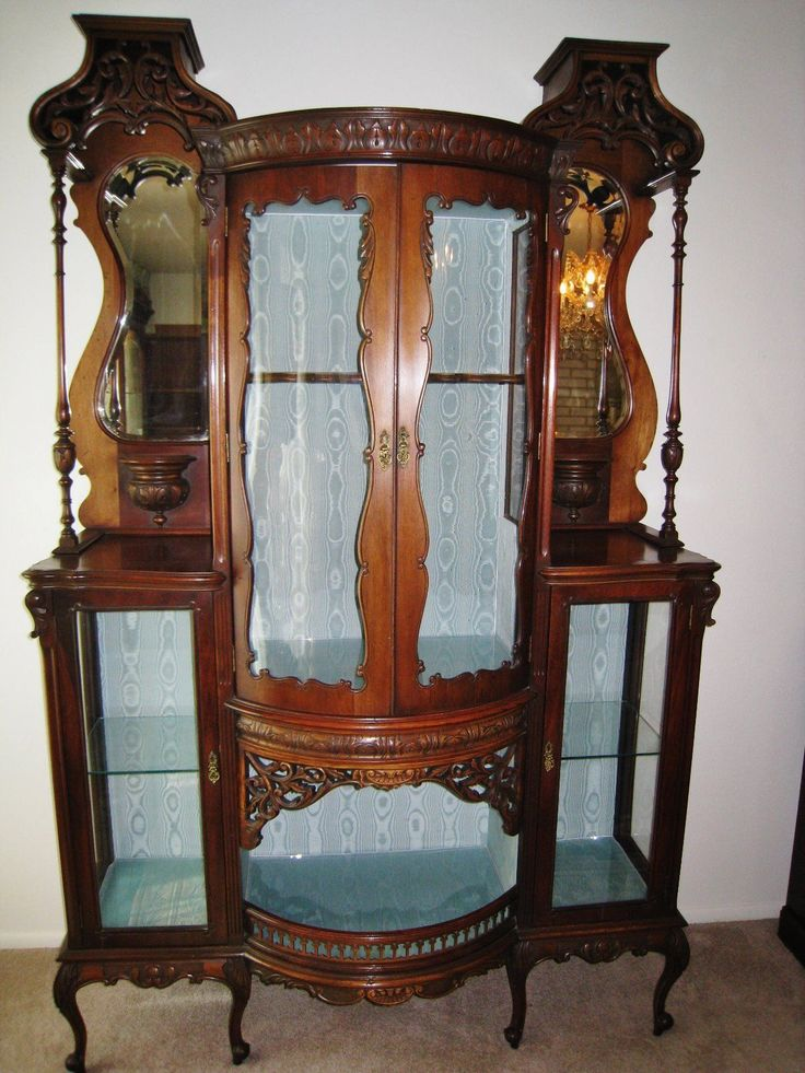 Antique French Mahogany Vitrine Display Cabinet **Must Sell by 3/1 - 67 Best Antique French Furniture I Love Images On Pinterest