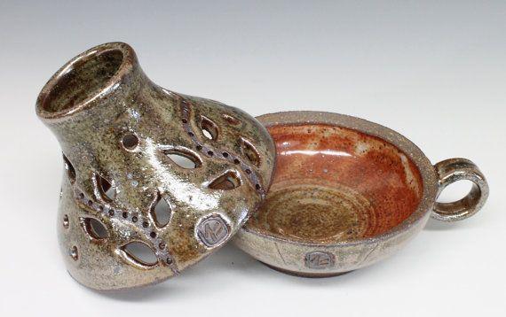 Pottery Lamp, Handmade Ceramic Candle Holder, Pottery Candle Holder, Ceramic Lamp