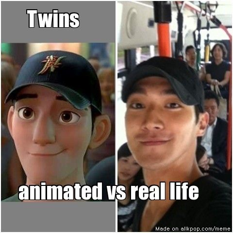Tadashi and Siwon!.. BigHero6 (I was thinking this the whole beginning!!)