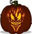 Pumpkin Carving Patterns and Stencils - Zombie Pumpkins! - Asylum Joker pumpkin pattern - Batman: Arkham Asylum