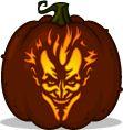 Pumpkin Carving Patterns and Stencils - Zombie Pumpkins! - Asylum Joker pumpkin pattern - Batman: Arkham Asylum