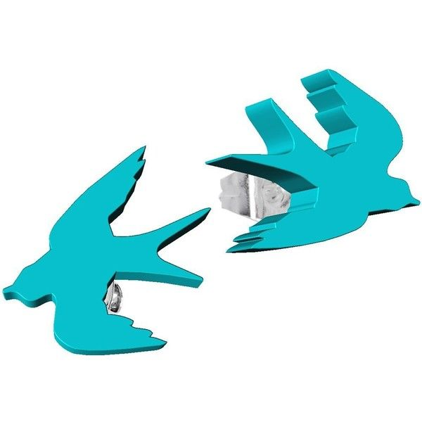 Body Candy Greenish Blue Acrylic Birds in Flight Stud Earrings ($29) ❤ liked on Polyvore featuring jewelry, earrings, blue earrings, lucite earrings, stud earrings, acrylic jewelry and blue jewellery