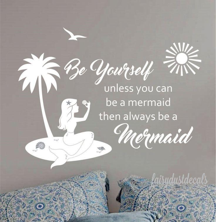 25+ Best Mermaid Wall Decals Ideas On Pinterest   Little Mermaid Room,  Mermaid Girls Rooms And Mermaid Bedroom Part 49