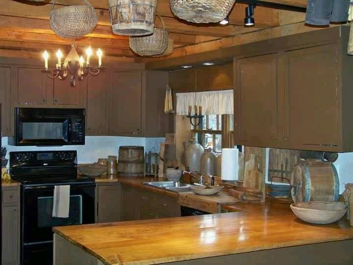 Attraktiv Primitive Homes, Schlichte Küchen, Kolonialküche, Rustikale Küchen, Kleine  Küchen, Küchenbeleuchtung, Küchen Design