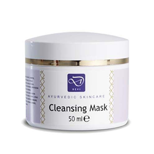 Cleansing Mask 50 ML  Description: Deze combinatie van fijne klei en kruiden reinigt en voedt de huid van gezicht en hals. Devi Cleansing Mask is gebaseerd op fijne poseleinklei dat diep in de poriën kan doordringen en overtollige olie en vuil verwijdert. De klei verwijdert dode huidcellen op een milde manier en stimuleert de huid zonder deze uit te drogen. Aan het product zijn bestanddelen toegevoegd die ieder op hun unieke manier bijdragen aan de reiniging en verzorging van de huid. Devi…