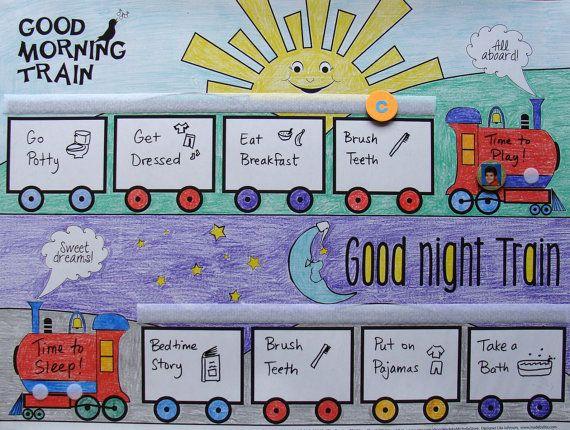 Routine chart-train   Organize   Pinterest   Routine Chart, Daily ...