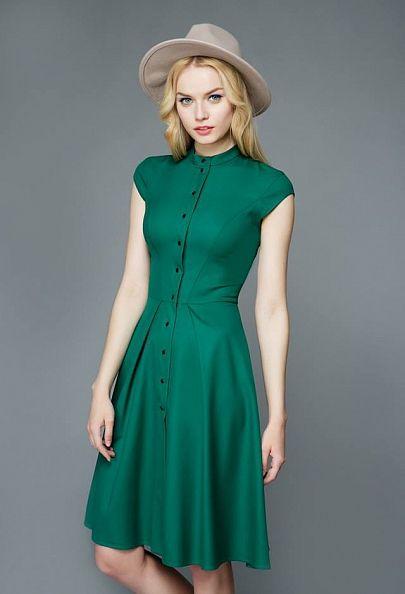 Сшить вечернее платье зеленое короткое