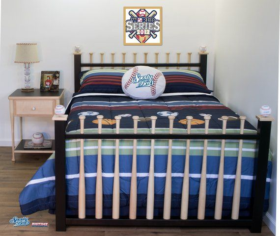 Grand Slam Full Size Baseball Bed 2 Piece Set By Sporty Beds