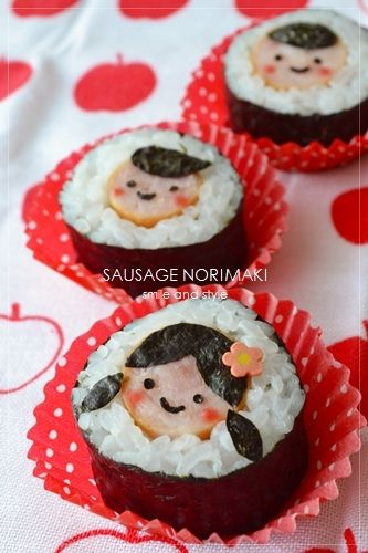 Face sushi roll